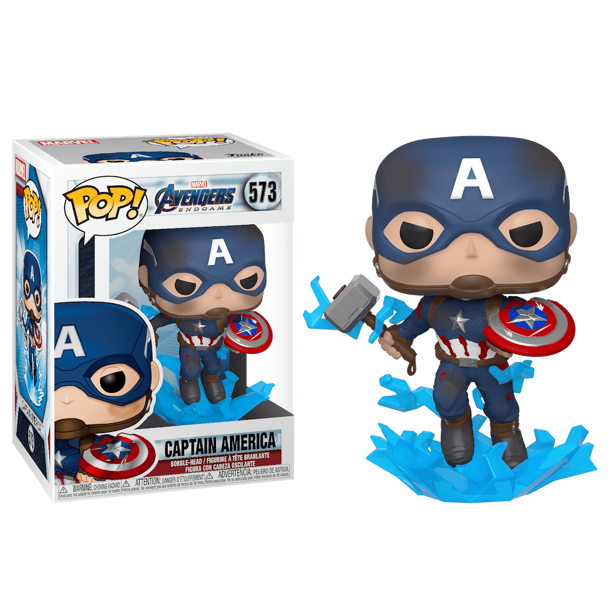 Фигурка Funko POP! Marvel: Avengers Endgame: Capt A with Broken Shield & Mjolnir 45137