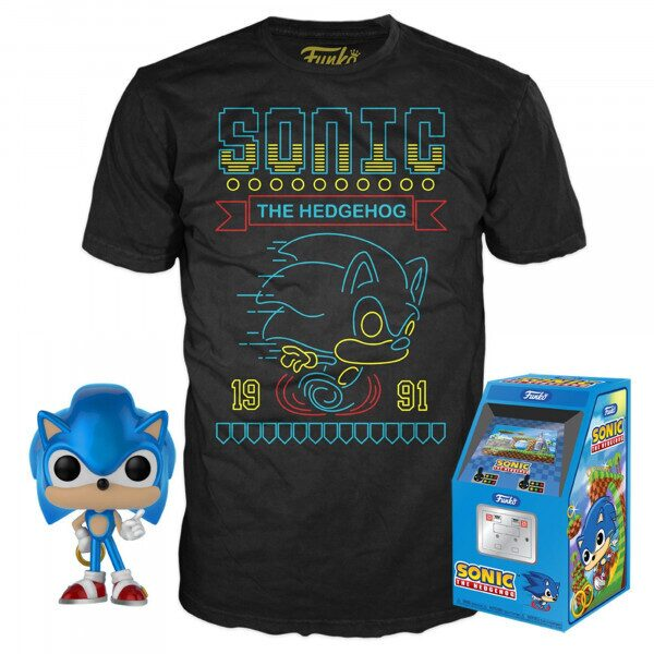 Набор Фигурка+Футболка Funko POP and Tee: Sonic the Hedgehog (S) 35710