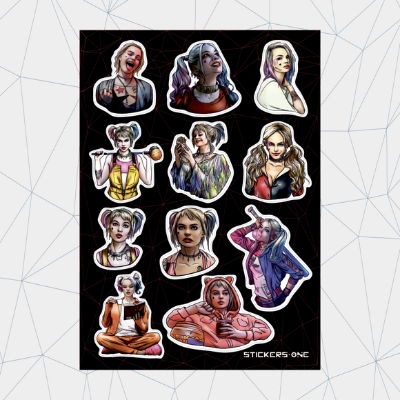 Лист стикеров STICKERS.ONE - Harley Quinn