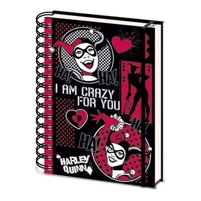 Записная книжка Harley Quinn (I Am Crazy For You) A5 Wiro SR73045