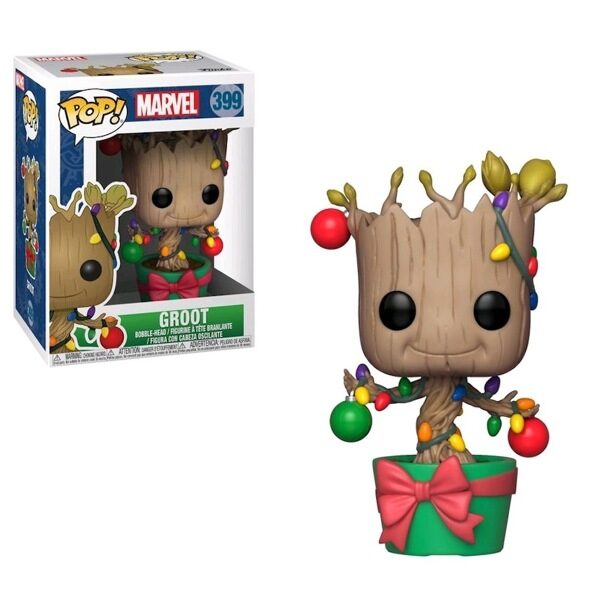 Фигурка Funko POP! Marvel: Holiday: Groot w/ Lights & Ornaments 33982